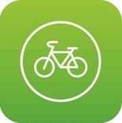 fiets-groene-meldingsbord-pictogram-digitale-tekening_csp57288691
